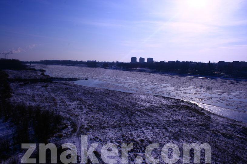 Zima w Warszawie Wisła Kra