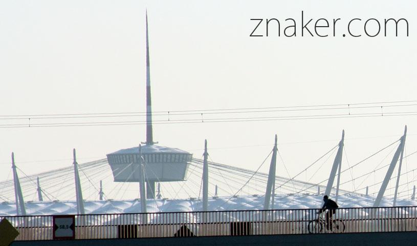 Rowerem po moście Warszawa Stadion