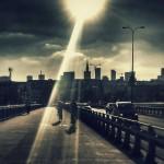 Panorama Warszawa Most Rowerzyści